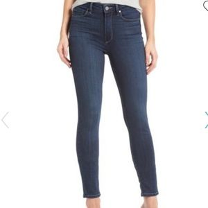 Paige Hoxton Ankle Skinny Jeans Size 27 Dark Wash